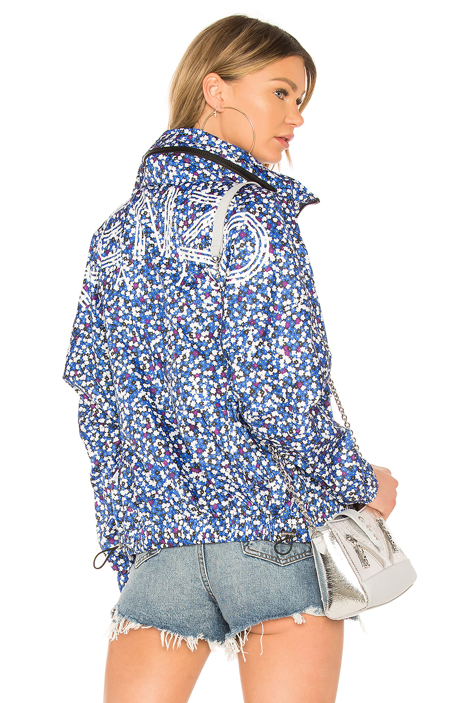 Kenzo Printed Windbreaker in Navy Blue