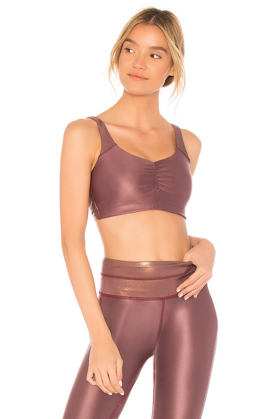 Maaji Twist Reversible Sports Bra in Dark Pink
