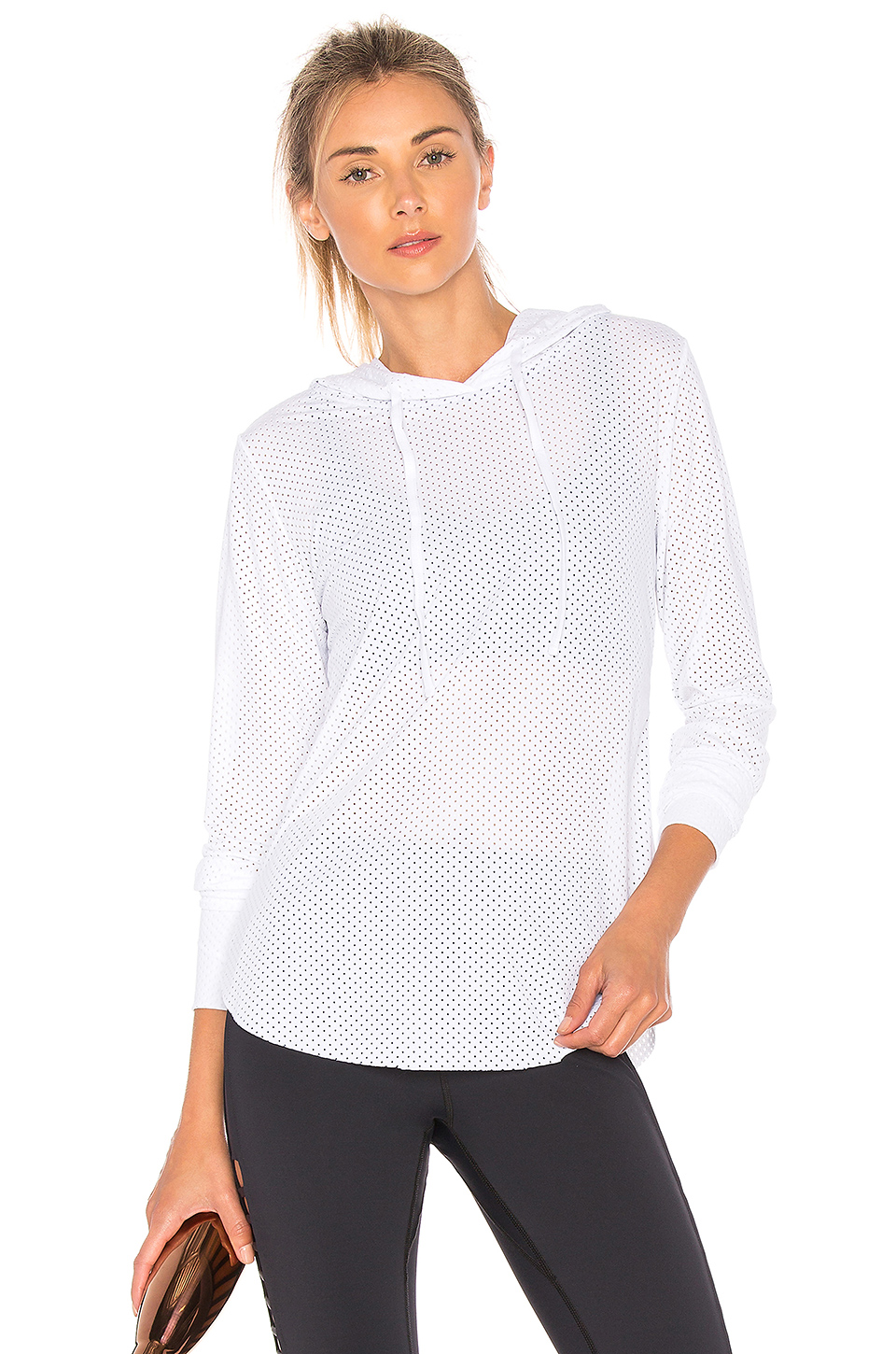 Maaji Waves Mesh Hoodie in White
