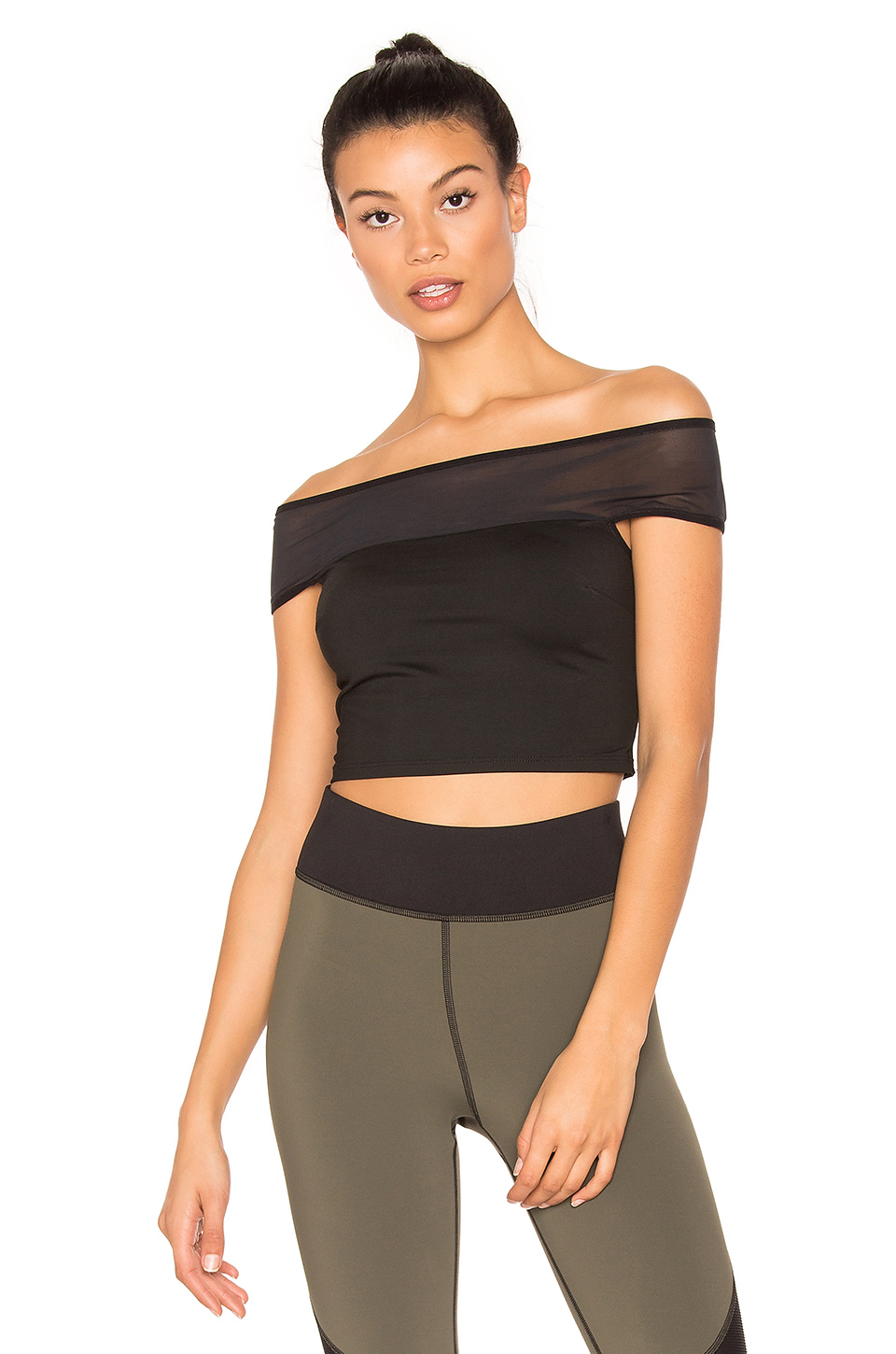 MICHI Lightning Crop Top in Black