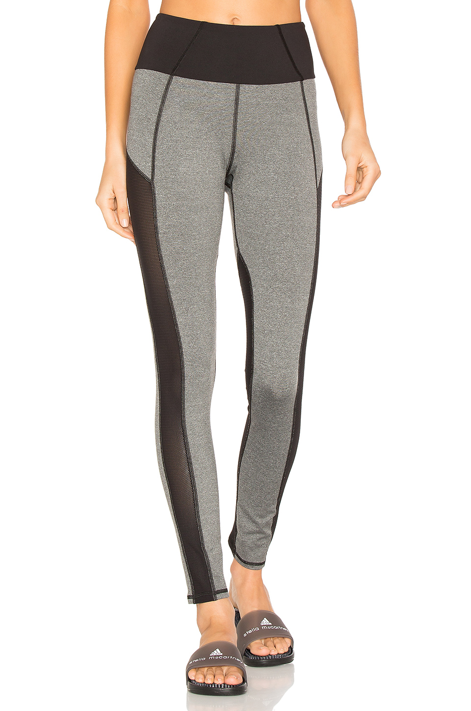 MICHI Summit High Waisted Legging in Heather Grey & Black