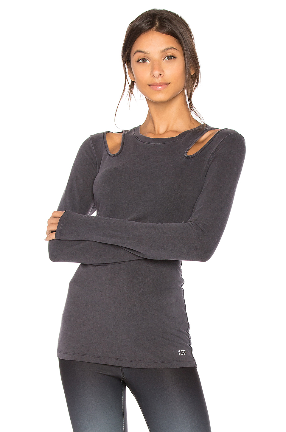 Splits59 Alexis Terry Top in Faded Black