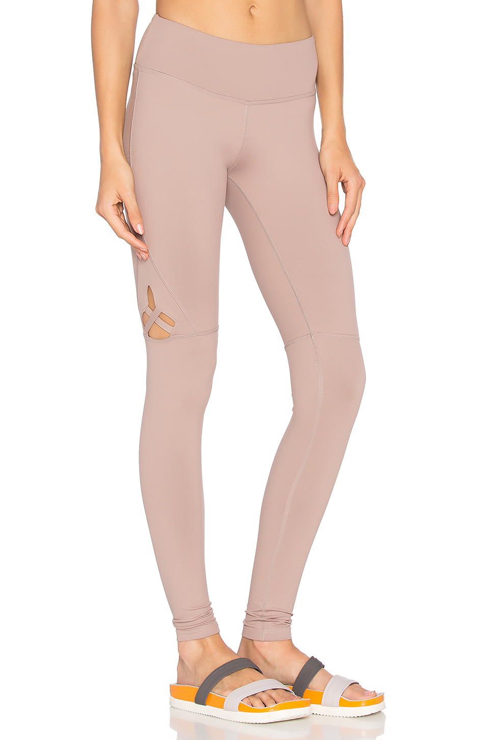 Track & Bliss Star Cut Out Legging in Tan