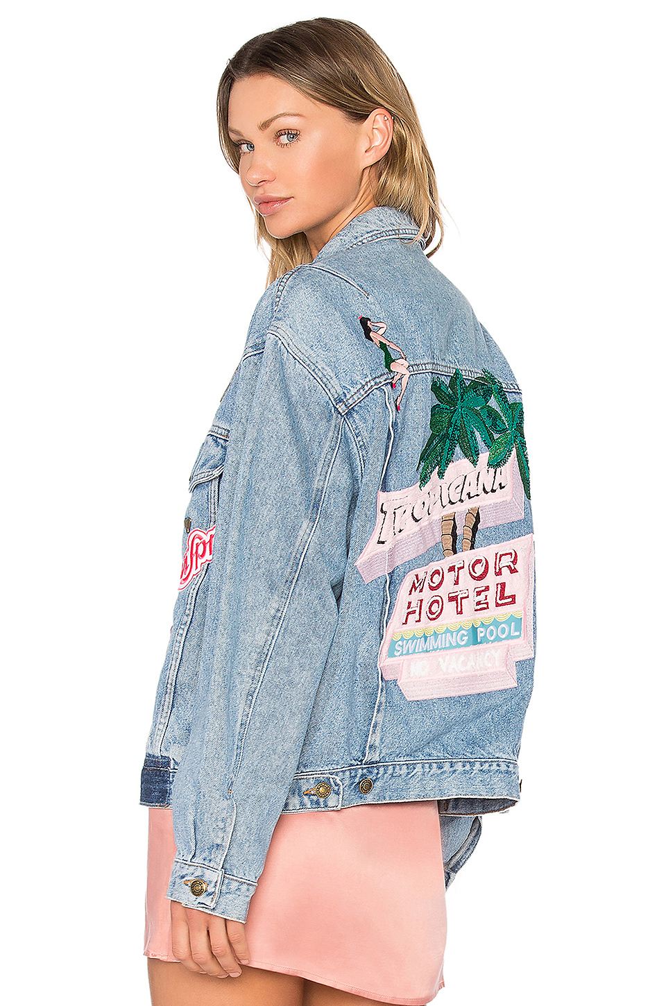 MPD BOX Tropicana Denim Jacket in Light Wash