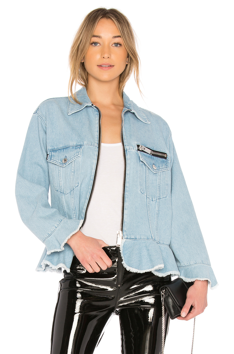 MSGM Denim Jacket in Medium Wash