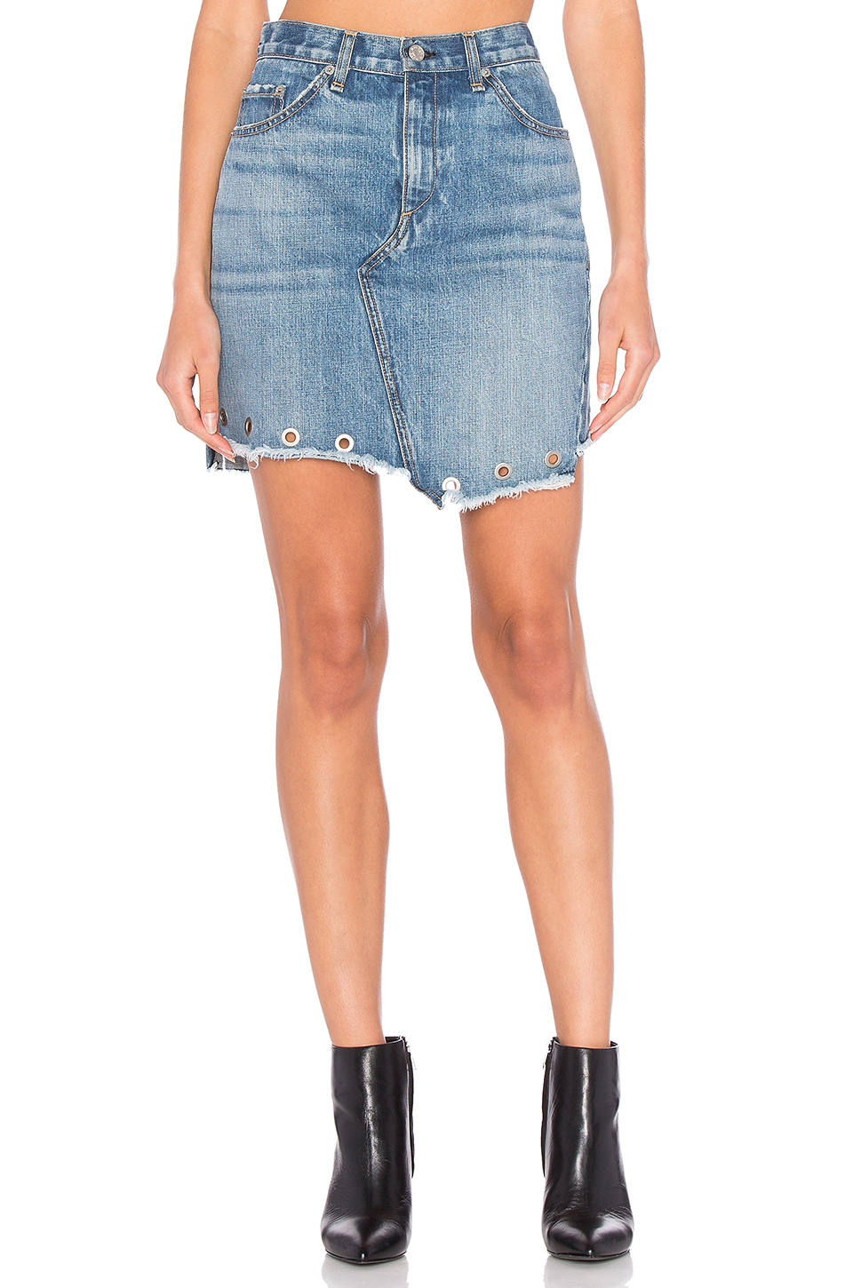 rag & bone/JEAN Dive Skirt in Willow Eyelet