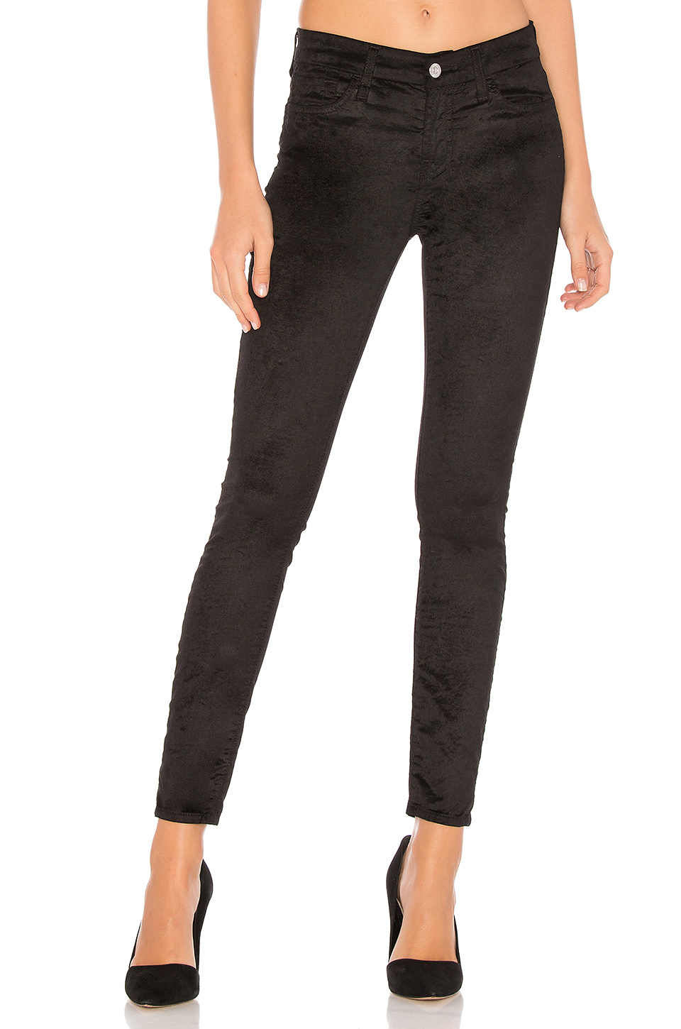 7 For All Mankind The Velvet Ankle Skinny in Black