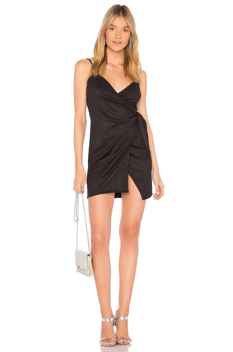 by the way. Desiree Tie Mini Dress in Black