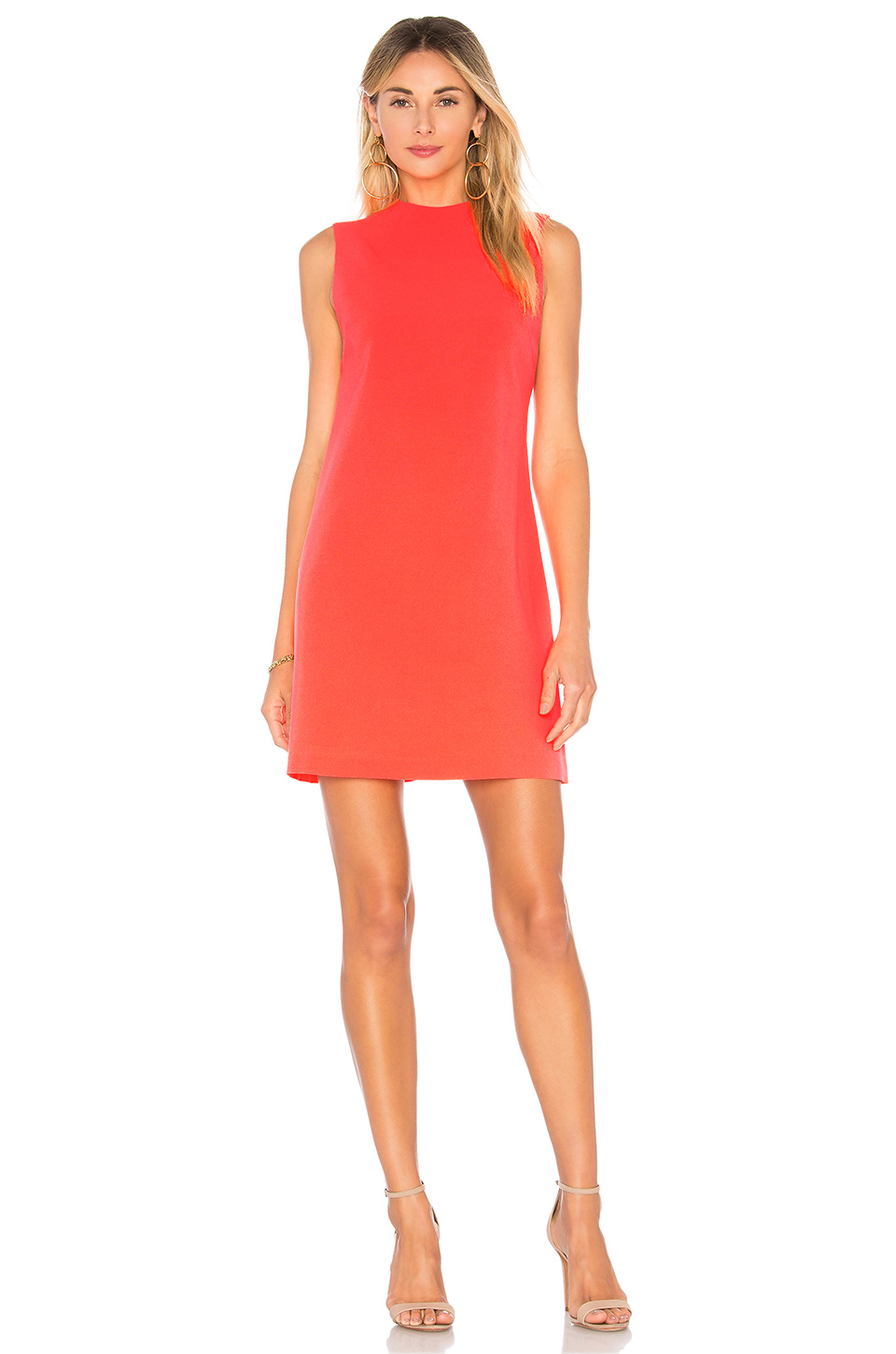 Alice + Olivia Coley Aline Dress in Neon Coral