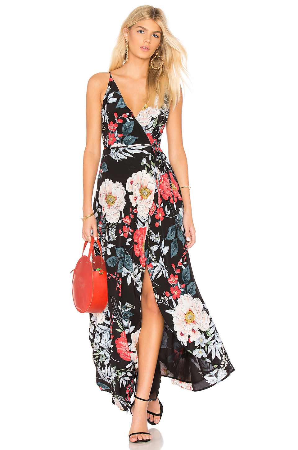 Yumi Kim Rush Hour Maxi Dress in Rain Forest Black