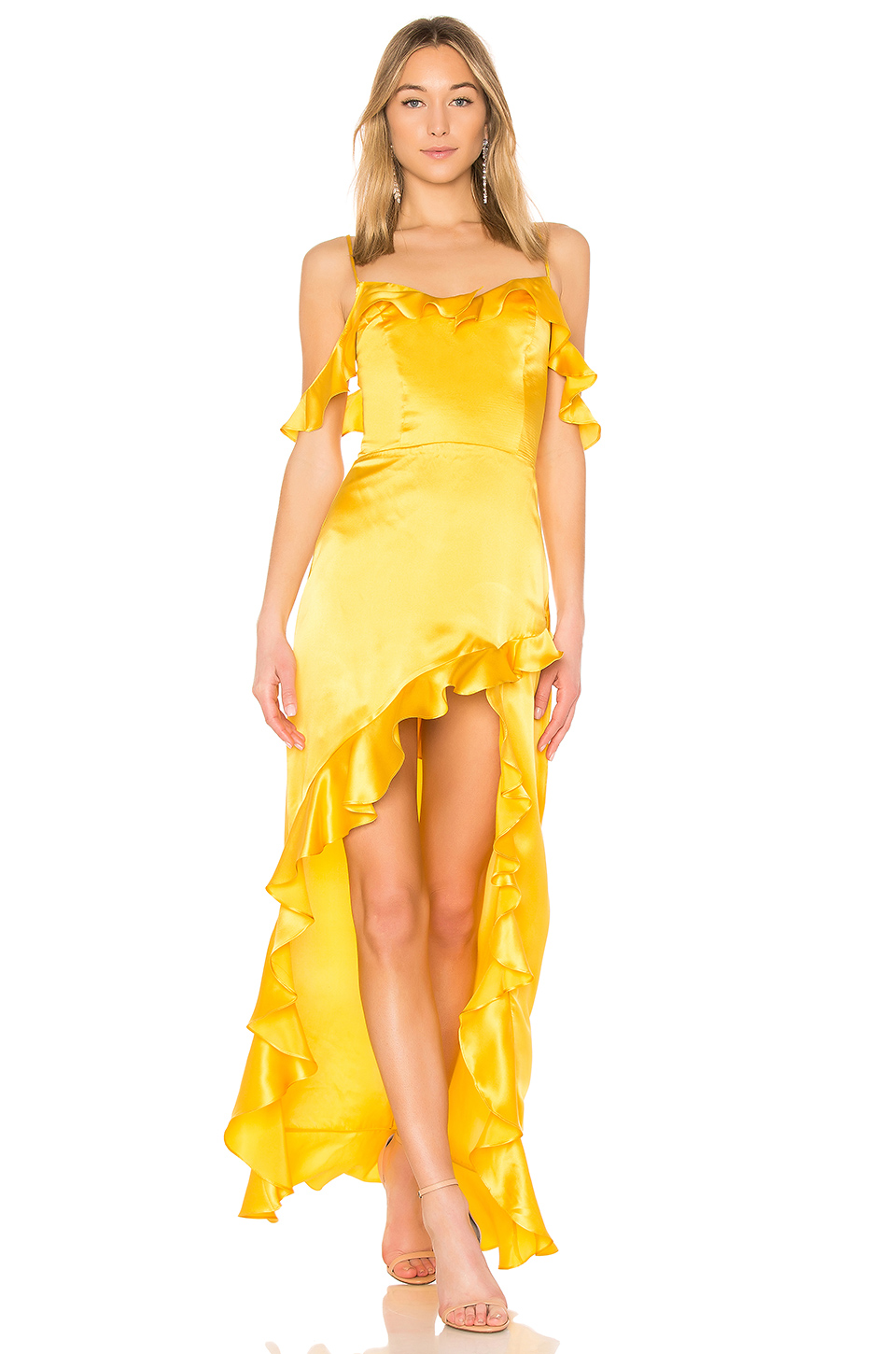 Amanda Uprichard Peony Maxi Dress in Marigold