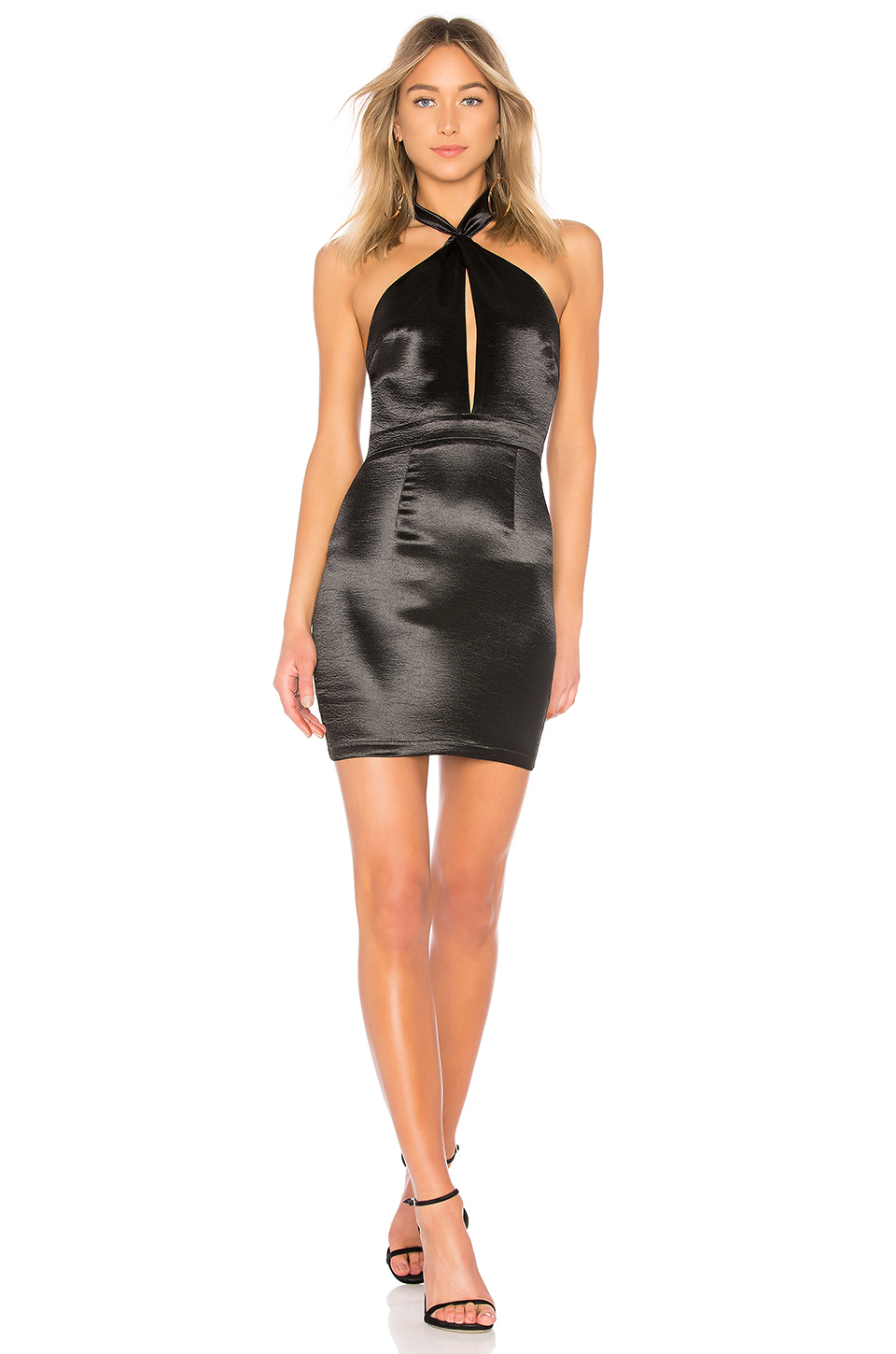 by the way. Marian Cut Out Halter Dress in Black