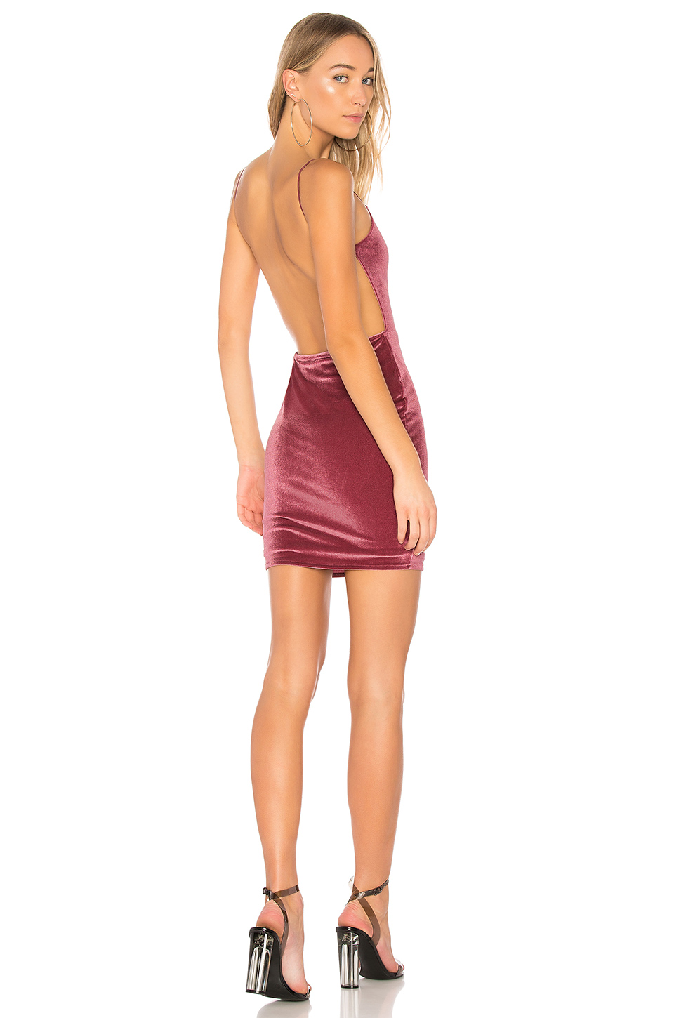 by the way. Miri Backless Mini Dress in Mauve