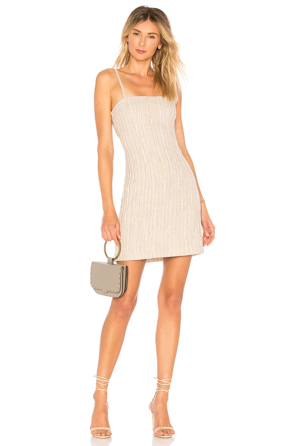 Auteur Adeline Dress in Metallic Stripe