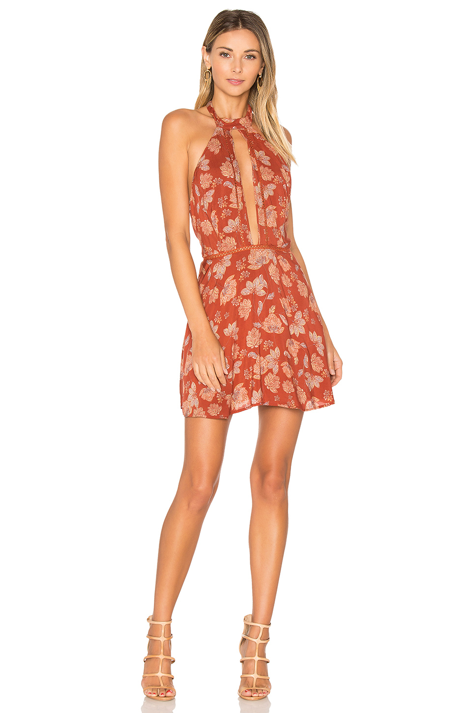 ale by alessandra x Bia Dress in Red Daffodil