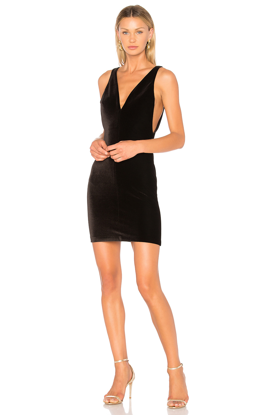Amanda Uprichard Portsmouth Dress in Black Velvet