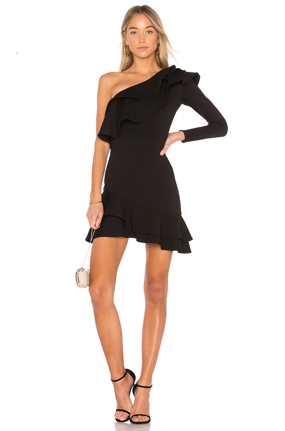 Amanda Uprichard Pavel Dress in Black