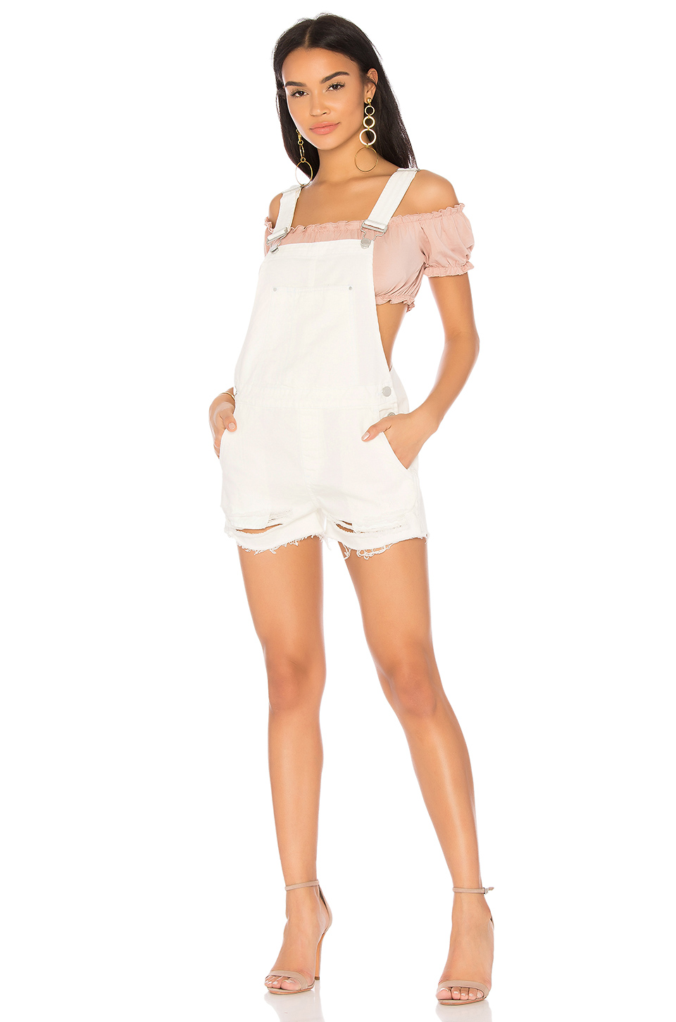 BLANKNYC Origami Overalls in White