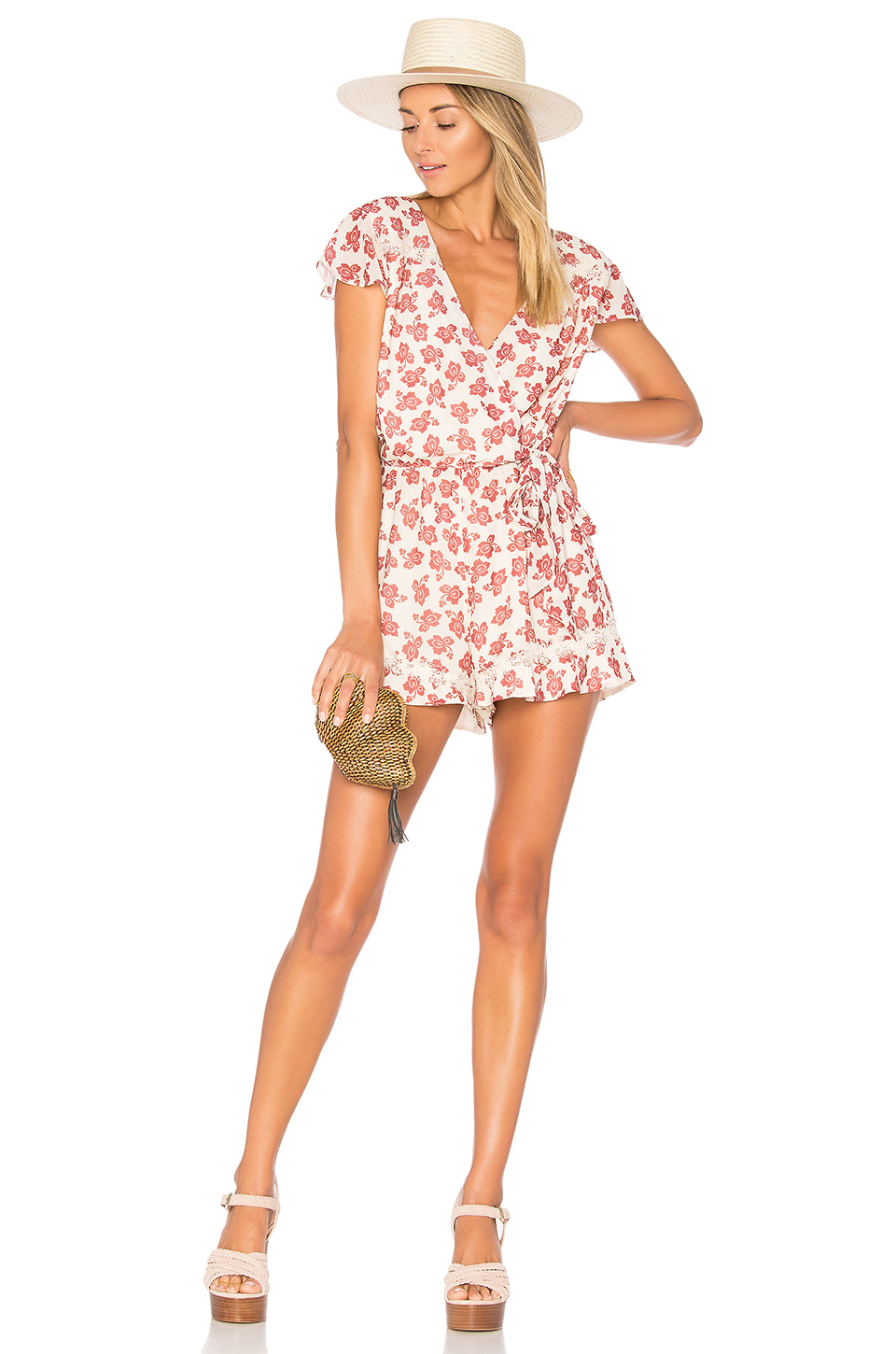 Tularosa Ashby Romper in Floral Paisley