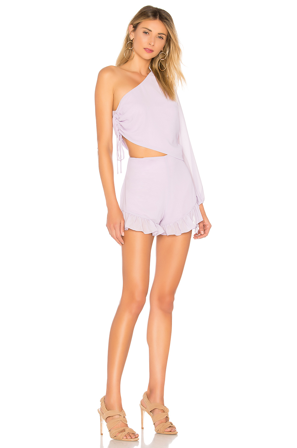 Lovers + Friends Mayer Romper in Pastel Lilac