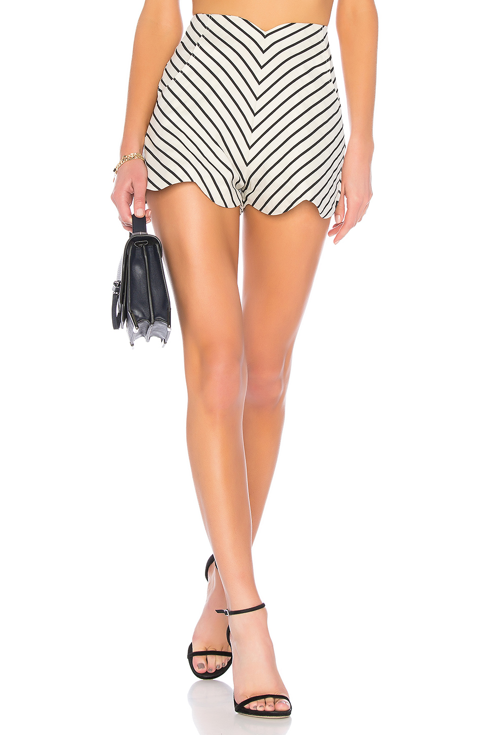 Paper London Fraise Shorts in Cream & Black