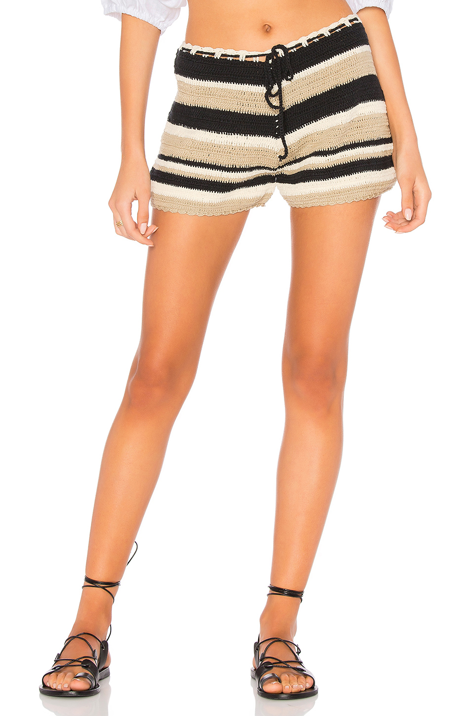 SIR the label Camelle Short in Ink & Bone Stripe