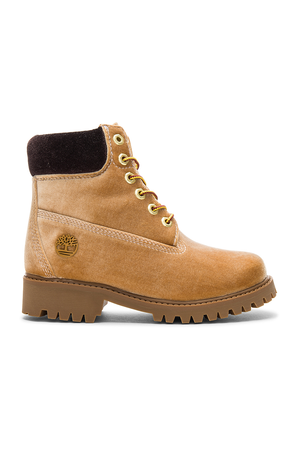 OFF-WHITE Timberland Boot in Camel Brown