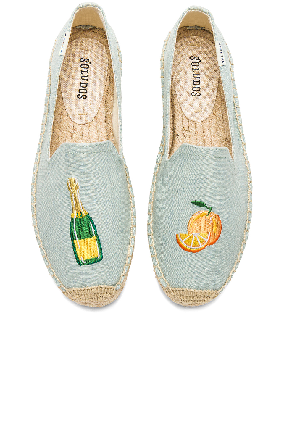 Soludos Mimosa Platform Smoking Slipper in Chambray