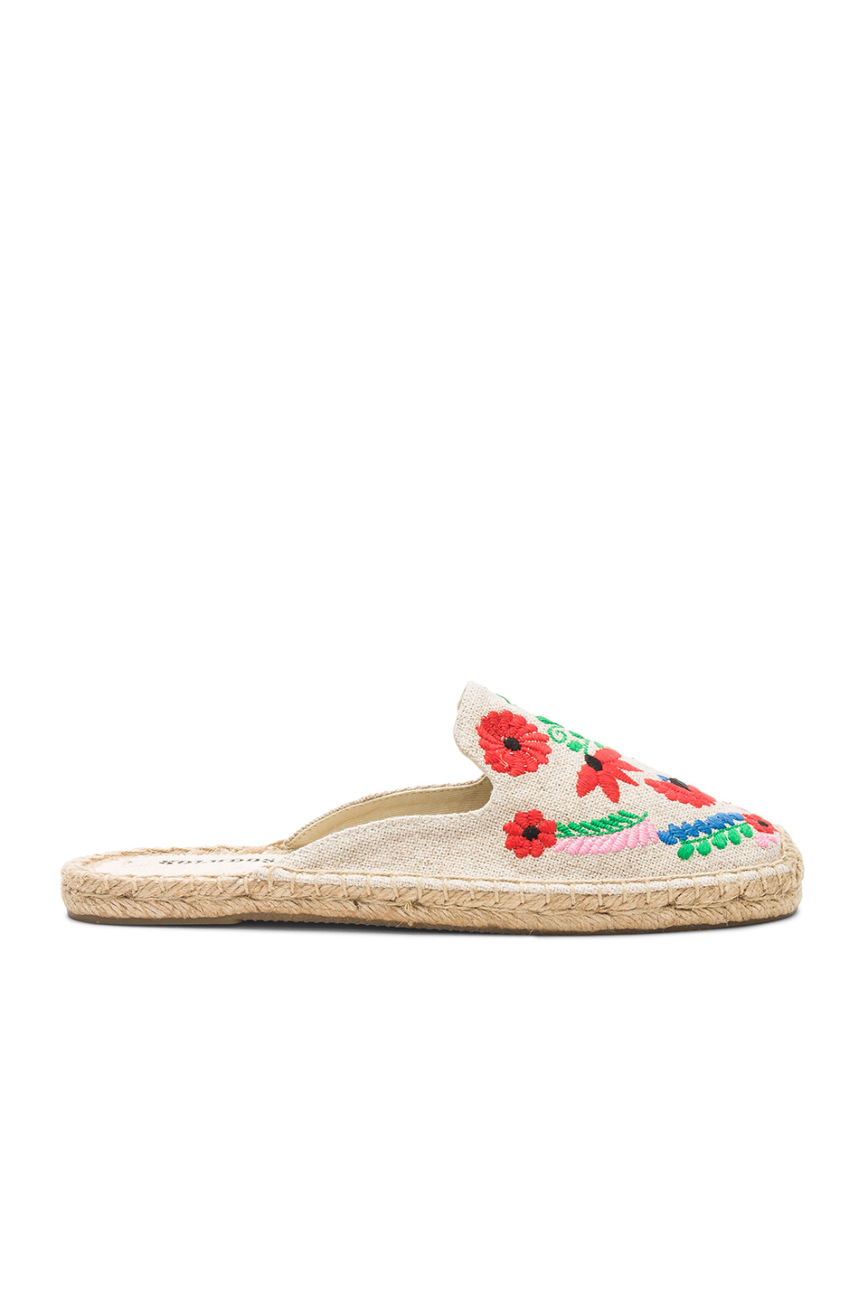 Soludos Ibiza Embroidered Mule in Sand Multi