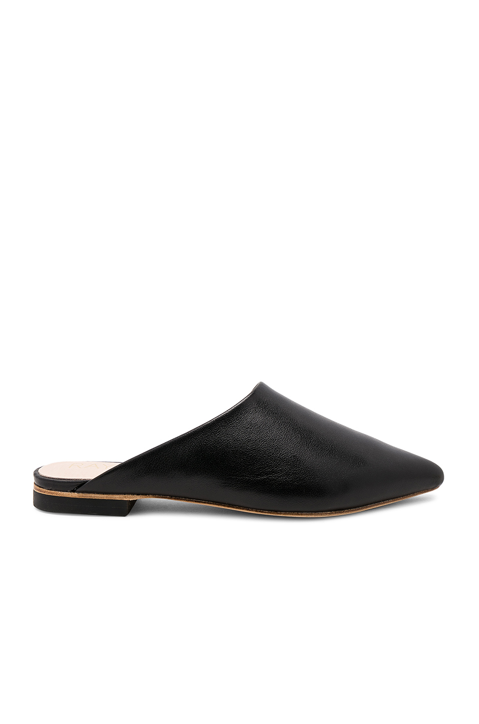 RAYE Starlet Flat in Black Leather