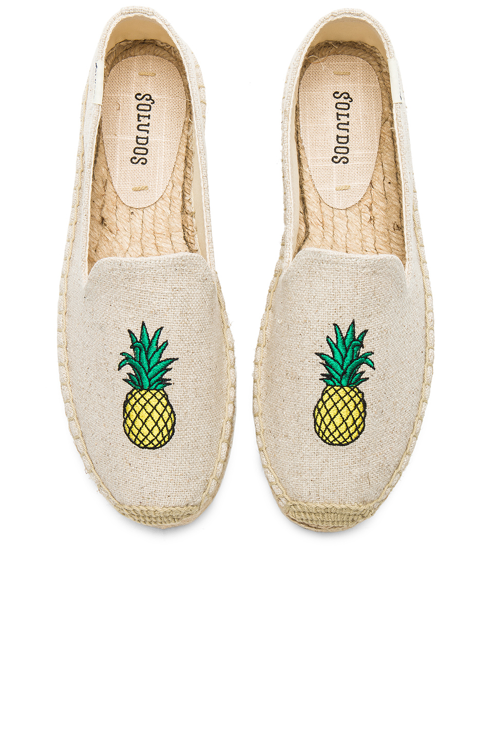 Soludos Pineapple Smoking Slipper in Sand