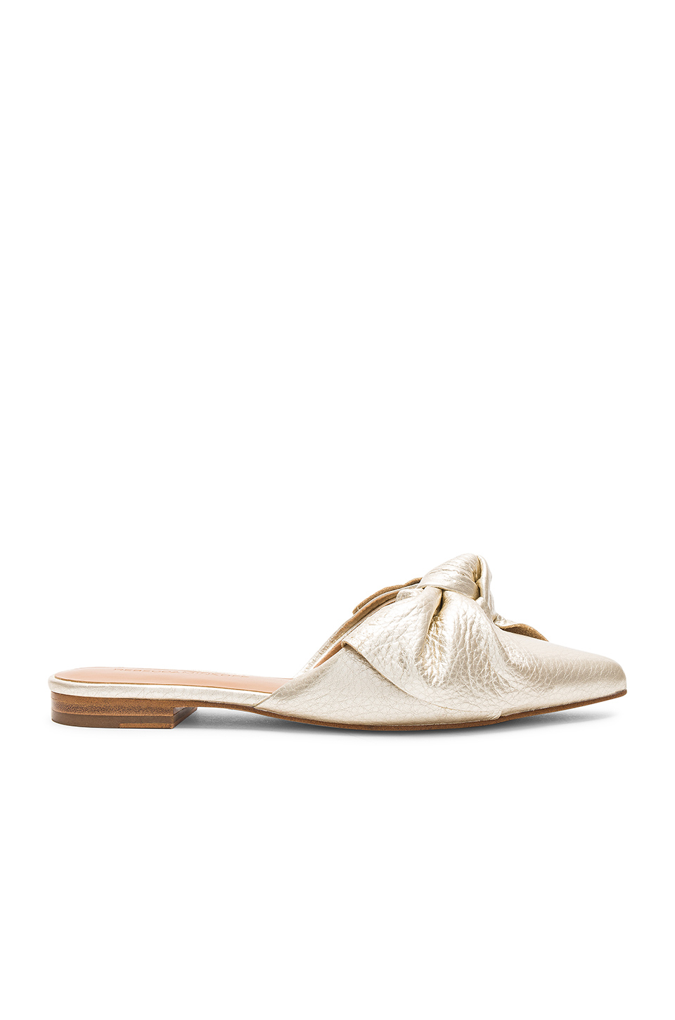 Rebecca Minkoff Alexis Slide in Gold Metallic