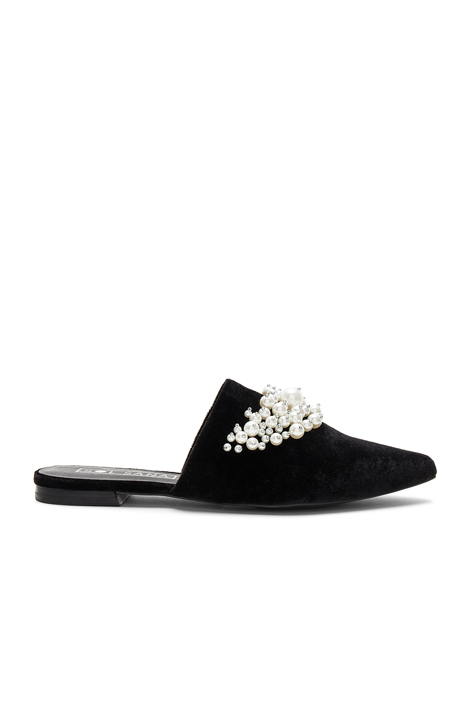 Sol Sana Grace Slide in Black Velvet Pearl