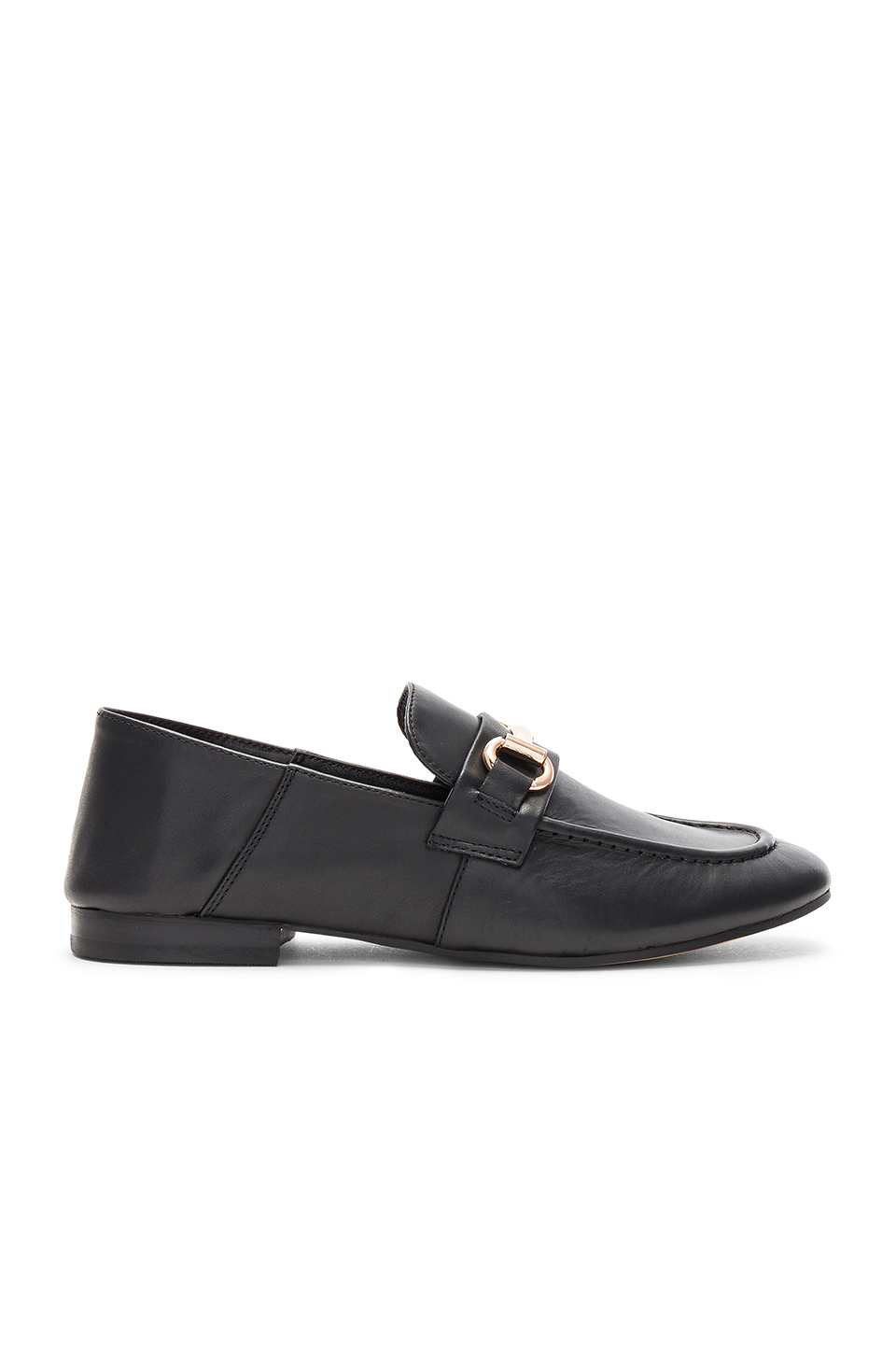 Steven Santana Loafer in Black Leather