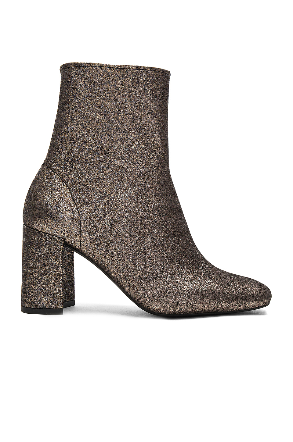Jeffrey Campbell Cienega Lo Booties in Pewter Glitter Strech
