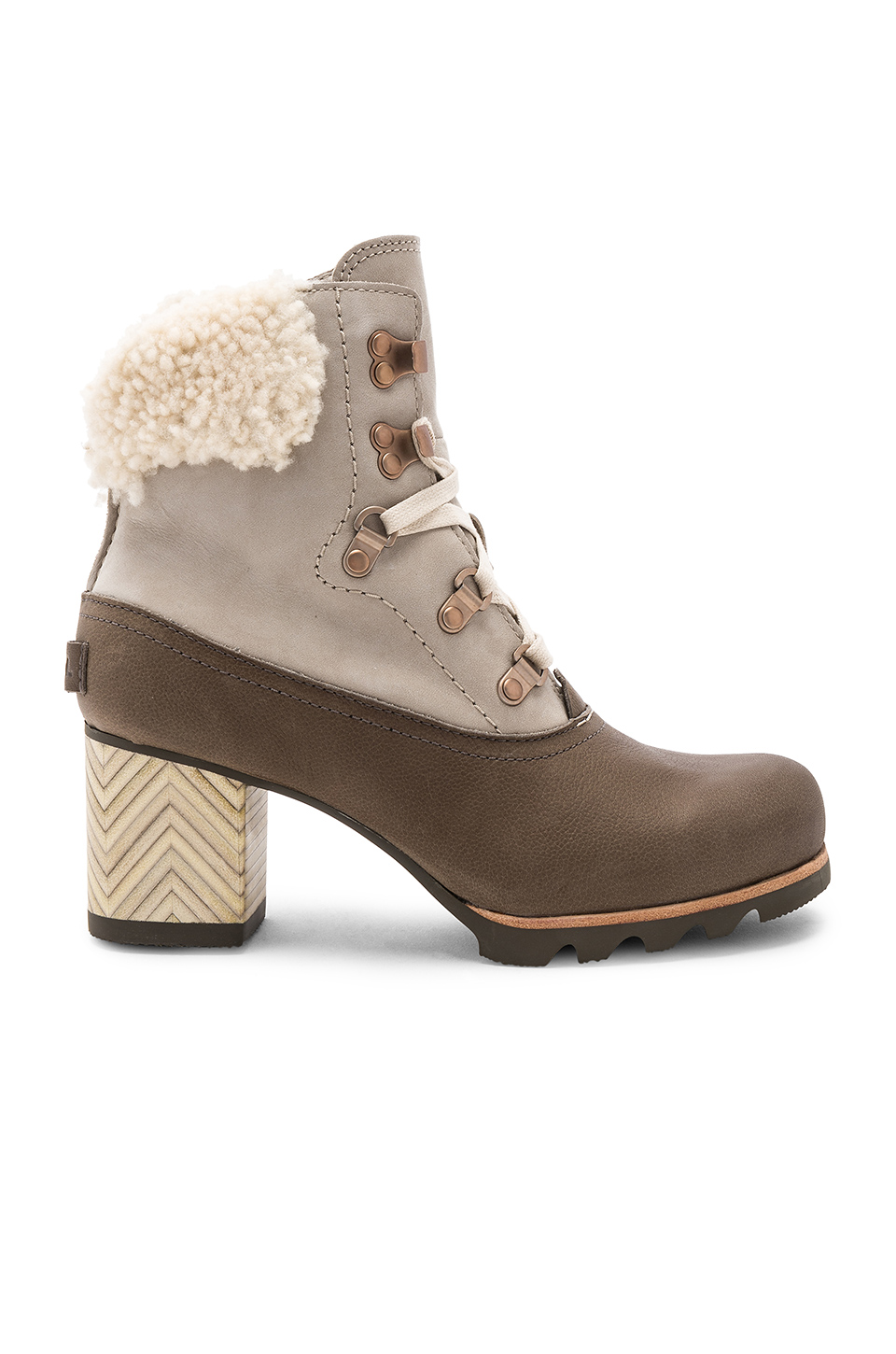 Sorel Jayne Lux Boot in Ancient Fossil/Mud