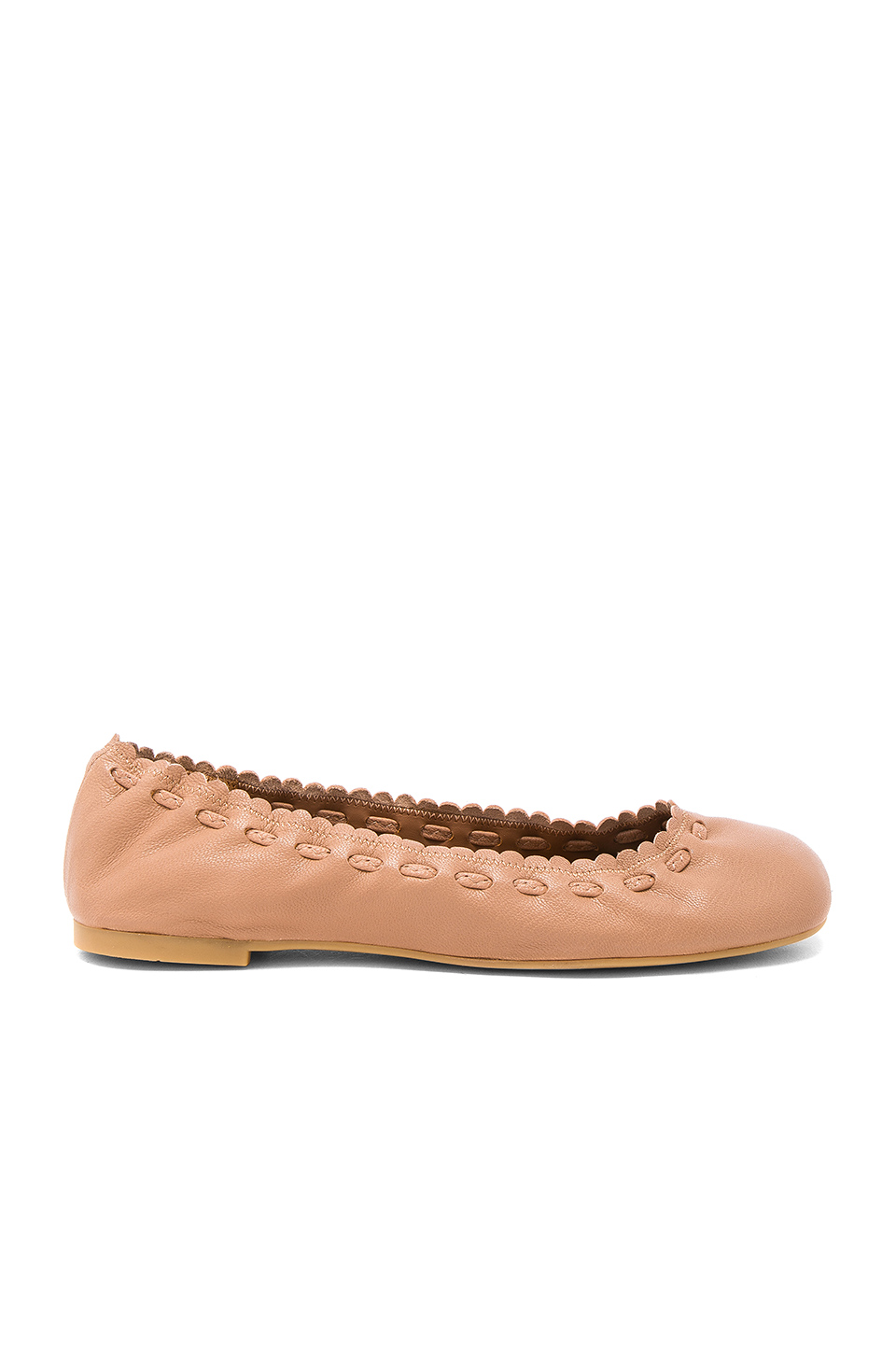 See By Chloe Jane Flat in Biscotto