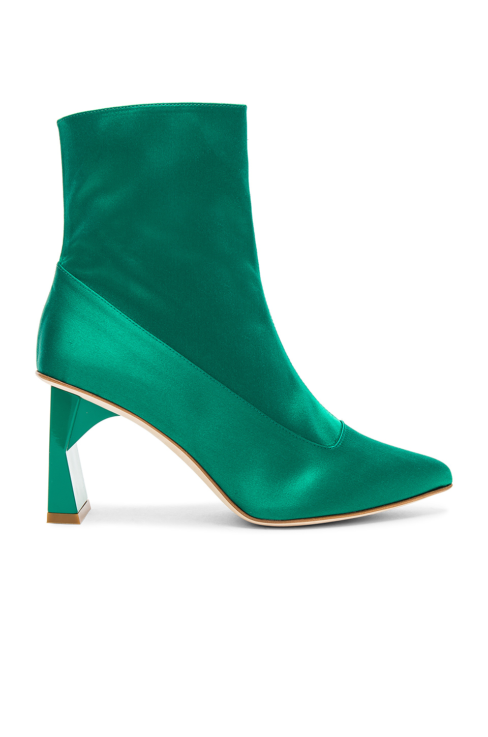 Tibi Alexis Bootie in Kelly Green