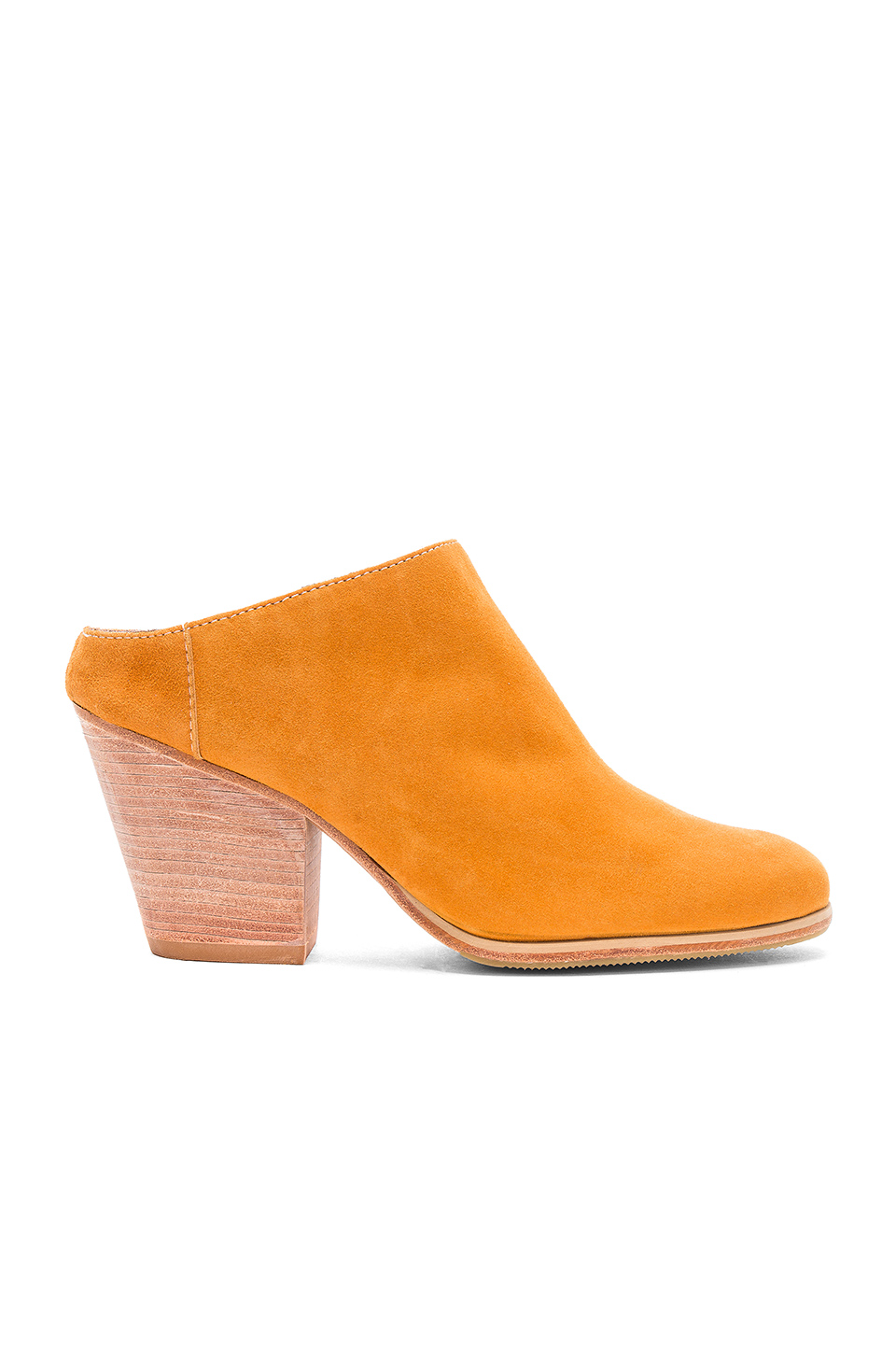 Rachel Comey Mars Mules in Goldenrod Suede