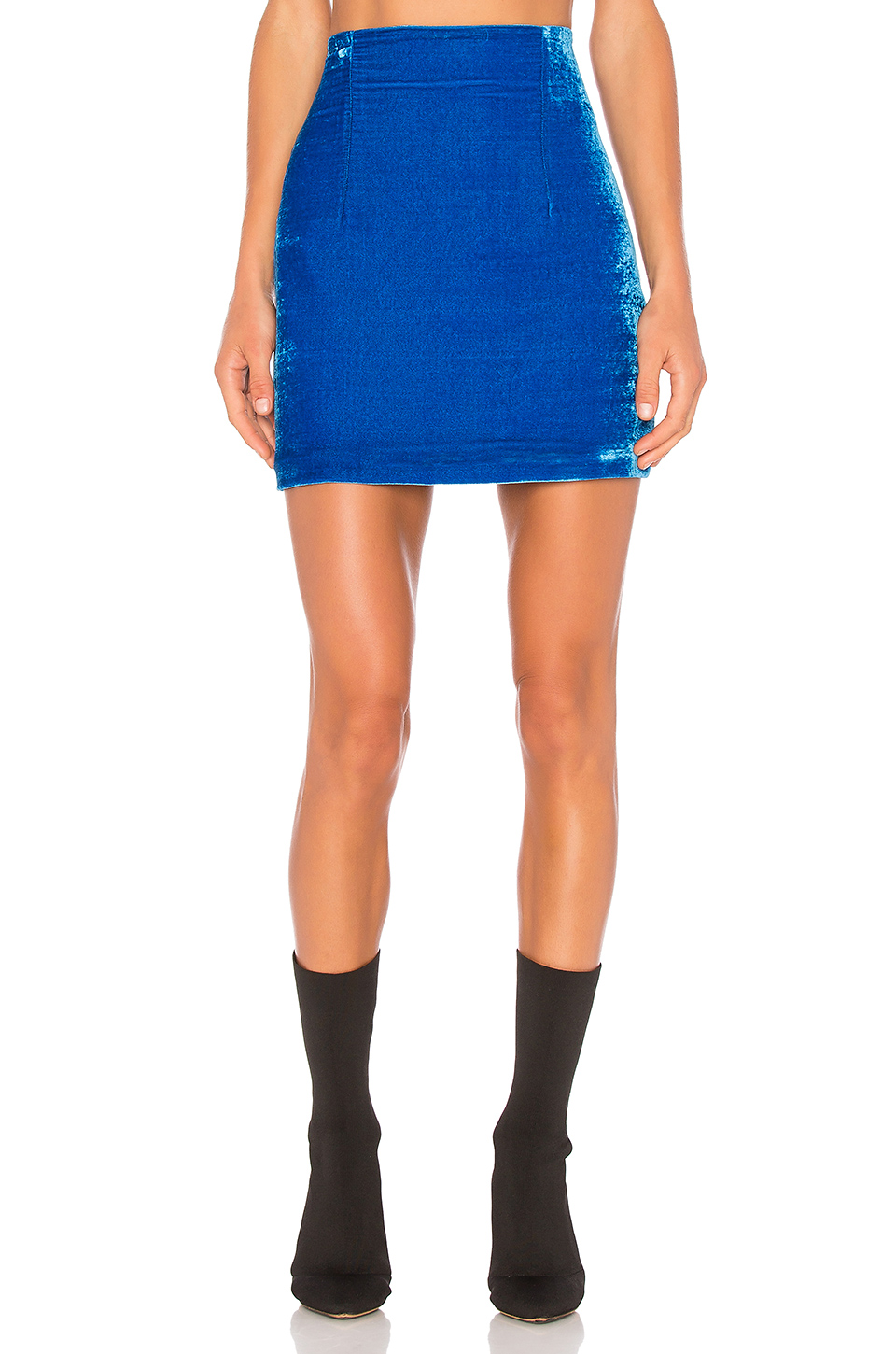 OFF-WHITE Velvet Mini Skirt in Blue