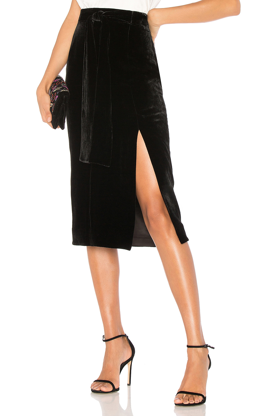 SALONI Kirsten Skirt in Black