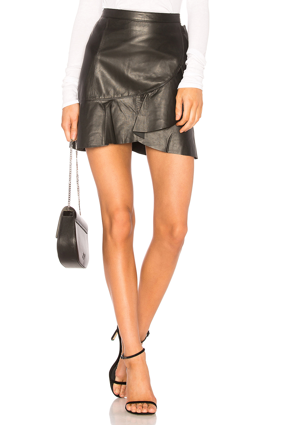 Tanya Taylor Tally Skirt in Black