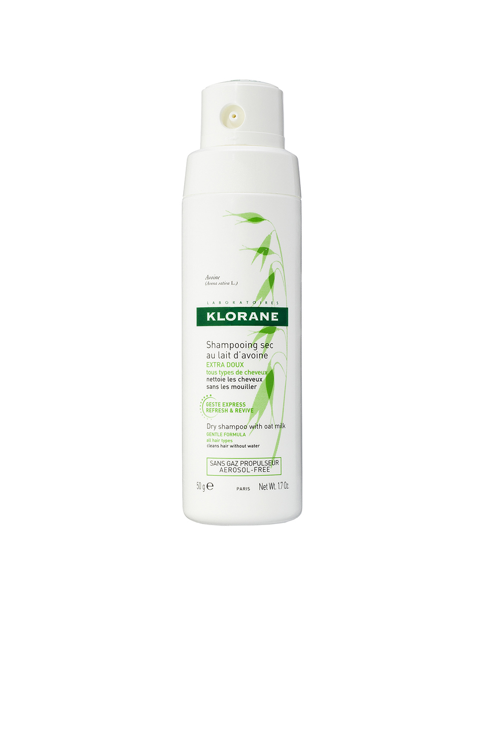 Klorane Non-Aerosol Dry Shampoo with Oat Milk in