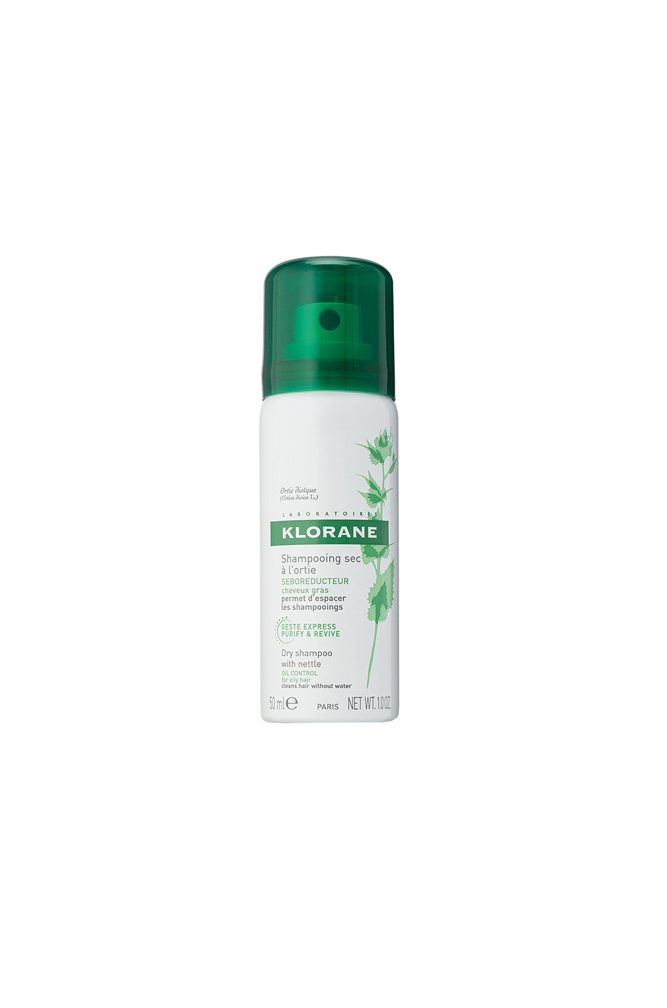 Klorane Travel Dry Shampoo with Nettle in