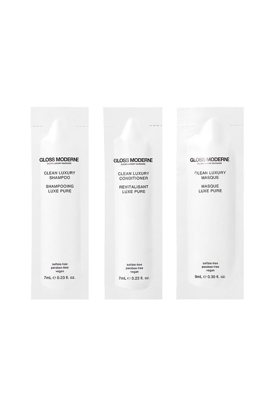 GLOSS MODERNE Clean Luxury Discover Set 3 Pack in