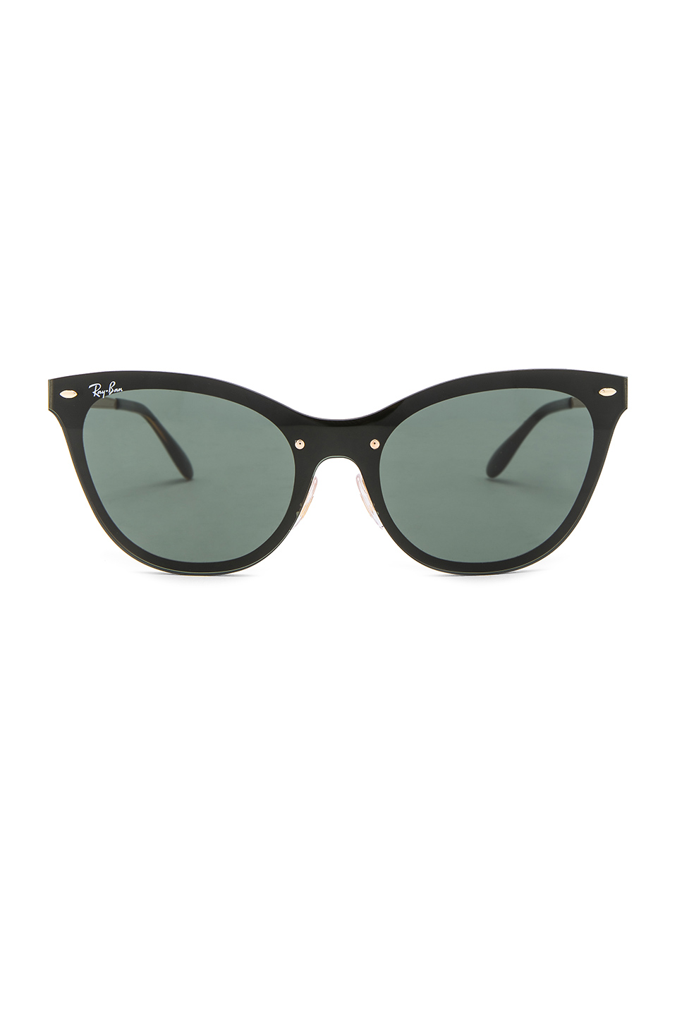 Ray-Ban Blaze Cats in Gold & Green Classic