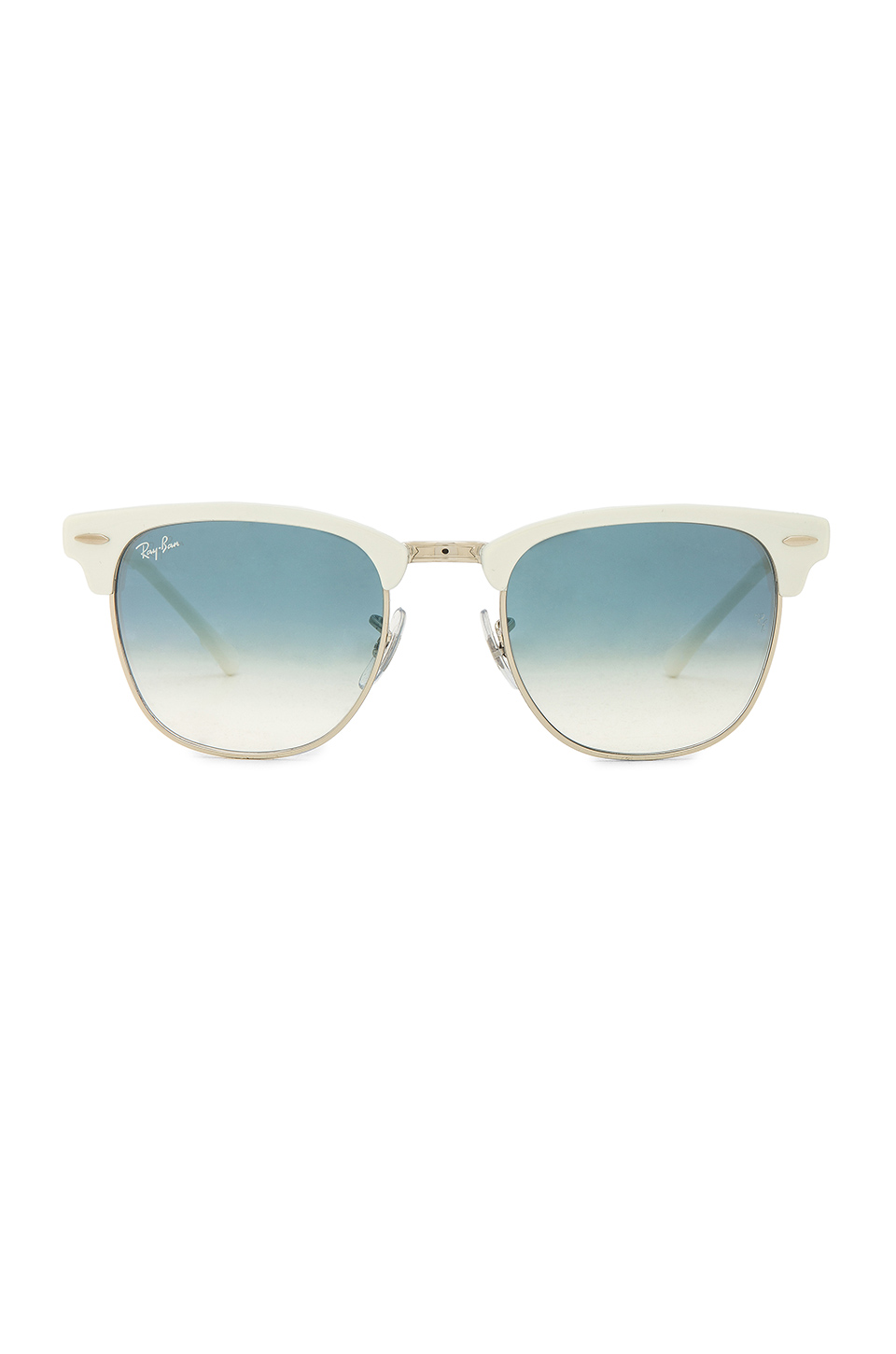 Ray-Ban Metal Clubmaster in Silver, White & Blue Gradient