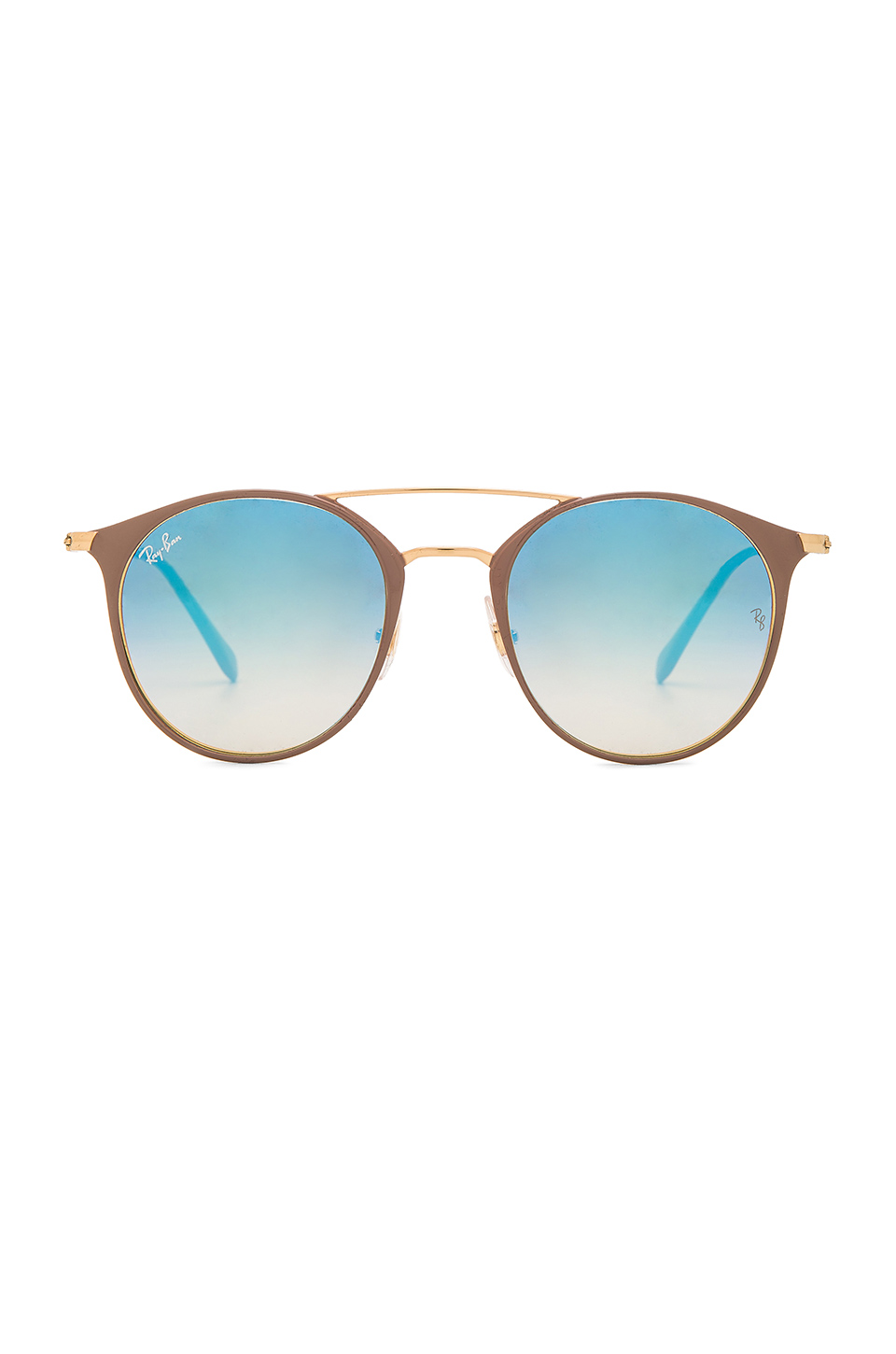 Ray-Ban Round in Gold Top Beige