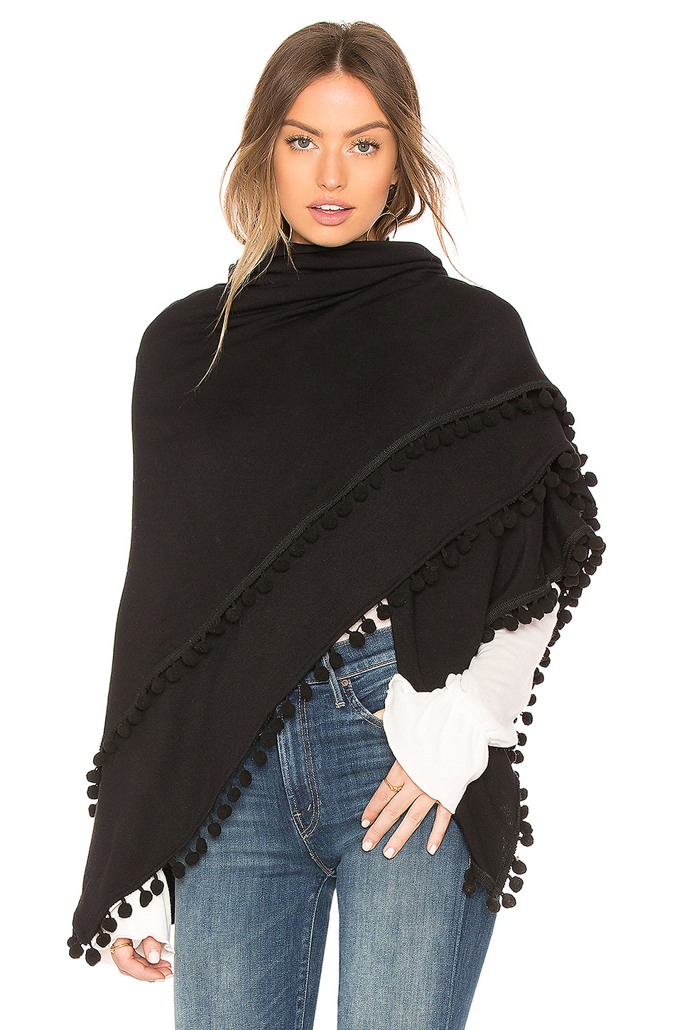 Michael Stars Madison Poncho in Black
