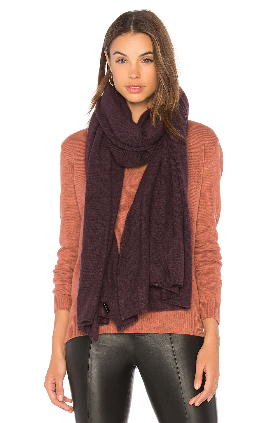 360CASHMERE Linus Scarf in Cement